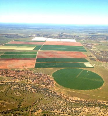 Pivot, lateral move irrigation and water storage on Cunnamulla's Hortonvale