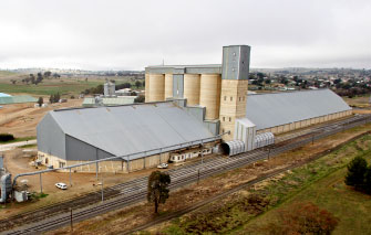 Truck drivers delivering grain to local silo complexes are urged to take extra care.